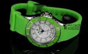 Damski silikonowy zegarek marki Pacifik - zielony - F56