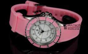 Damski silikonowy zegarek marki Pacifik - różowy - F56
