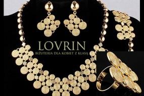 Złoty komplet biżuterii klejnot królowej elegancki zestaw  obniżka Z336