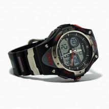 Zegarek wodoodporny wodoszczelny sportowy zima lato męski czarny
