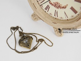 Kobiecy wisiorek zegarek - sówka, serce, żuczek, kulka F03