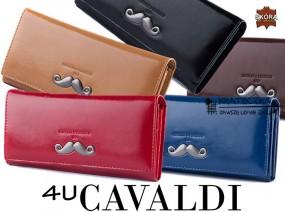 Elegancki portfel z motywem wąsów Cavaldi F07