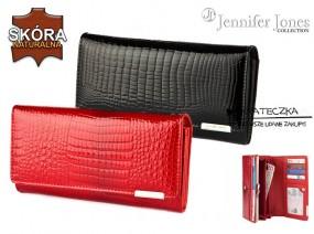Duży lakierowany damski portfel Jennifer Jones E91