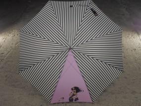 Parasol DOPPLER LANG AC laska ROMANCE czarny AUTOMAT