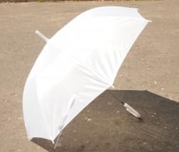 Parasol Polski ślubny KOMUNIA biały