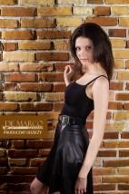 Młodzieżowa spódnica z skóry ekologicznej