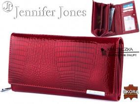 Lakierowany portfel ze skóry o wężowej fakturze Jennifer Jones F17