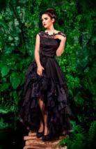 Długa suknia balowa z koronek i tiulu