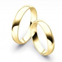 Obrączki ślubne klasyczne Półokrągłe 4mm