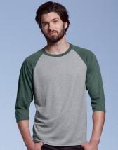 Koszulka T-Shirt z nadrukiem Tri-Blend 3/4 Tee