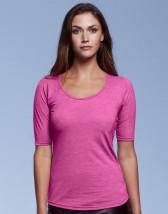 Damska koszulka z nadrukiem bluzka 1/2 Tri-Blend Tee