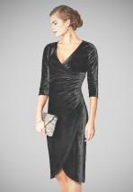 Krótka czarna sukienka wizytowa -  Bronka