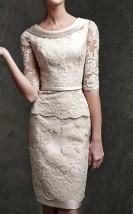 Koktajlowa 2-częściowa koronkowa sukienka damska - Aspa