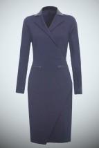 Granatowa damska sukienka do pracy -  Jasmin