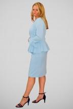 Błękitna damska sukienka wizytowa - Angel