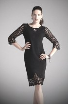 Mała czarna sukienka wizytowa z koronką - Nelka