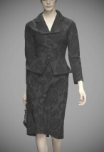 Luksusowa garsonka wieczorowa z czarnej koronki -  Serena