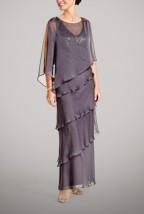 Długa popielata suknia karnawałowa -  Antonina