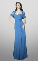 Długa niebieska suknia dla matki panny młodej -  Rozalia