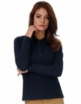 Koszulka z nadrukiem damskie polo Safran Pure LSL/women