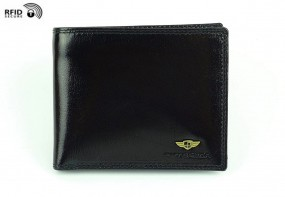 Cienki portfel skórzany męski 382 RFID 2-1-1