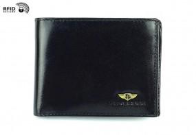 Mały męski portfel ze skóry naturalnej 347 RFID 2-1-1