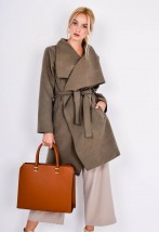 płaszcz jesienny brązowy