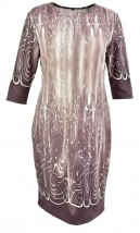 NOWA prosta sukienka we wzory, cappuccino 50