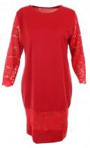 NOWA sukienka z koronką, czerwony 52