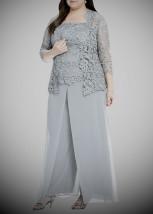 Luksusowy wizytowy garnitur damski ze spodniami - RAMONA