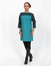 Elegancka biznesowa tunika damska w ciemnym turkusie - JANA
