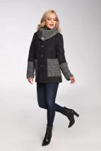 W kolorze grafitowym ocieplana damska kurtka zimowa - Kaja